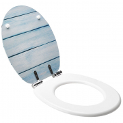 Abattant de WC Fish Trendy Line Soft close bois déco