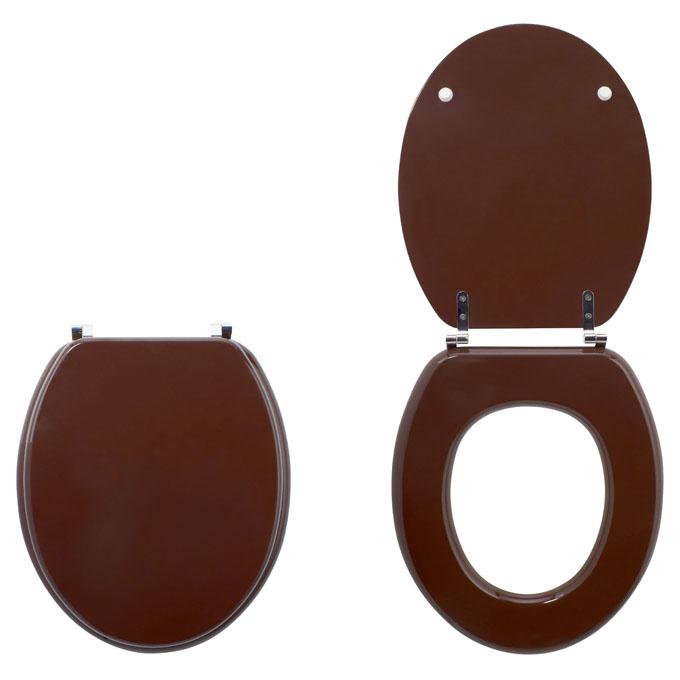 Chocolat abattants wc colors line bois unis wirquin pro - Abattant wc bois ...