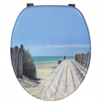 Abattant de WC Holiday Beach Trendy Line bois déco